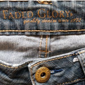Faded Glory Straight Jeans, Size 10P